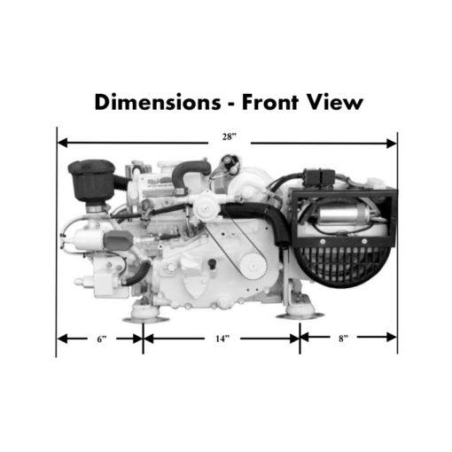 compact-kubota-marine-diesel-generators-3.5-kW-dimensions-front-view