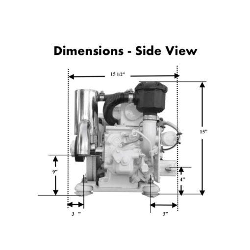 compact-kubota-marine-diesel-generators-3.5-kW-dimensions-side-view