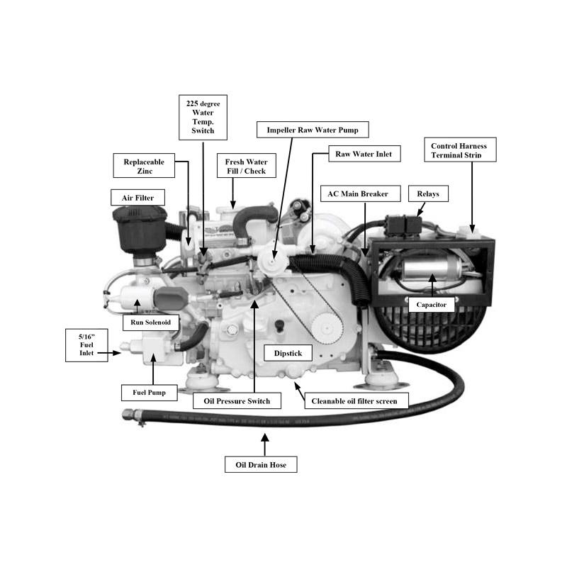 Kubota 3 5 Kw Marine Diesel Generator Hardy Diesel