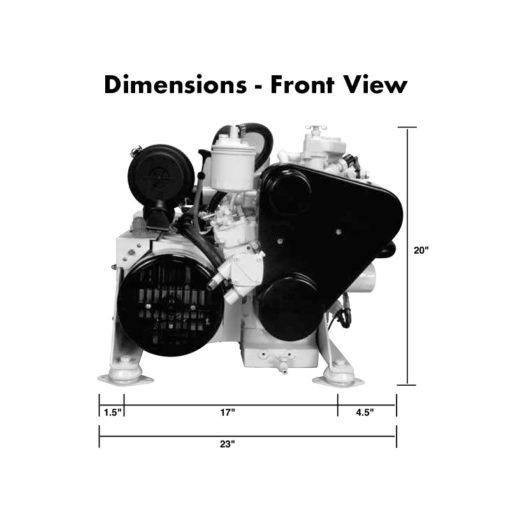 compact-kubota-marine-diesel-generators-5.5-kW-dimensions-front-view