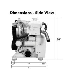 compact-kubota-marine-diesel-generators-5.5-kW-dimensions-side-view